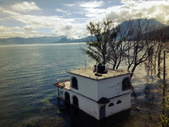 Over the years the water level of Lake Atitlan continues to rise