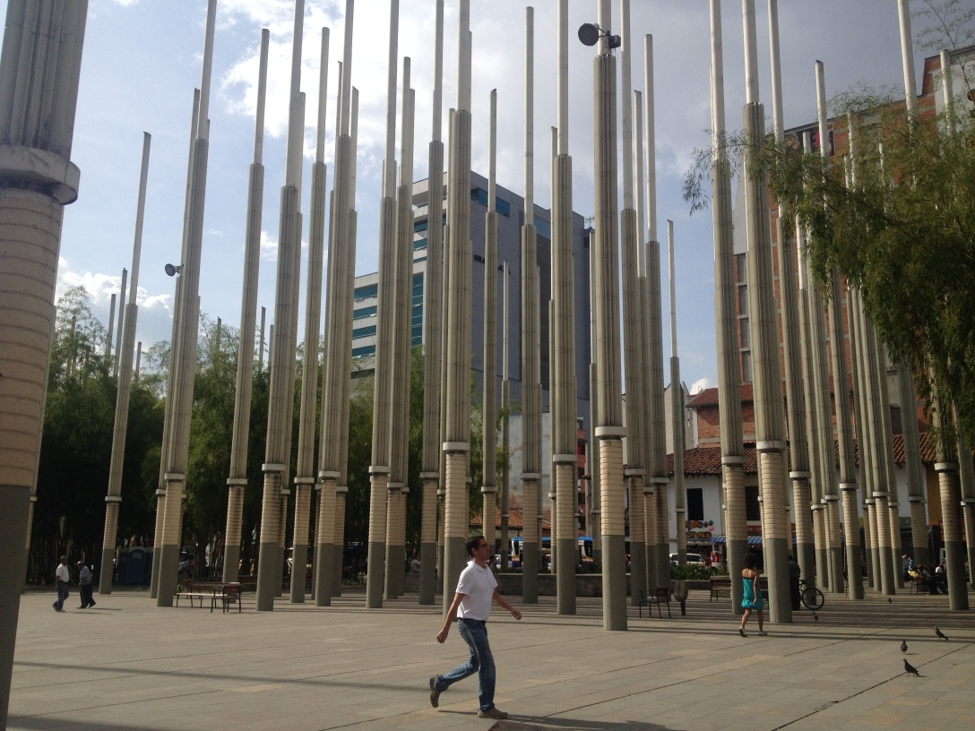 Square of Lights, created to symbolize hope for the city of Medellin