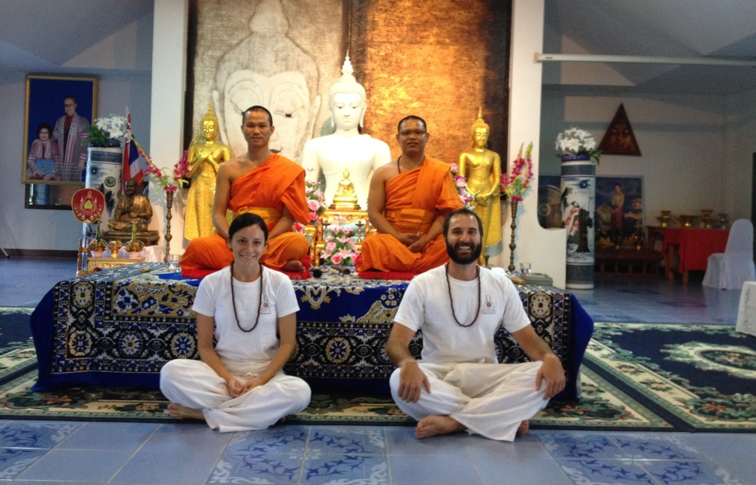 Our teacher Phra Sinlapachai (Sankham) Santikaro (left) with Phra Dr. Saneh Dhammavaro