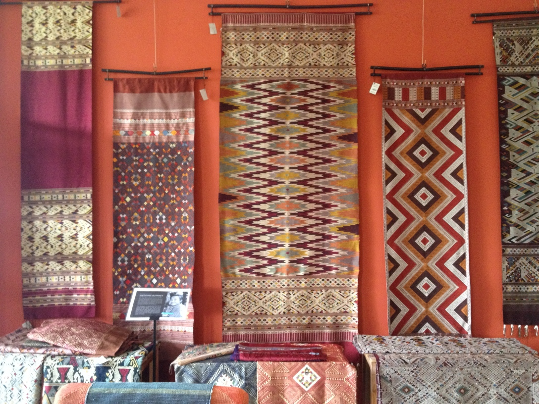 silk tapestries and scarves for sale at Ock Pop Tok