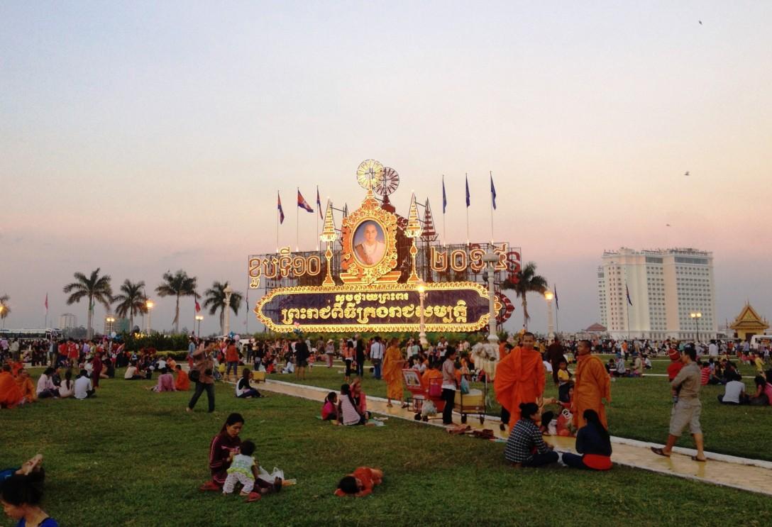 Riverside in Phnom Penh, Cambodia