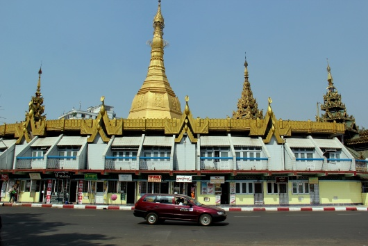 Pagoda at the center center of Yangoon