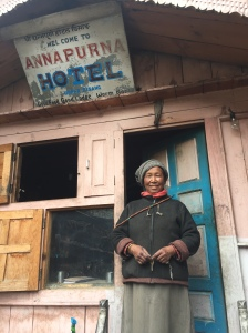 guesthouse owner in Upper Pisang, Nepal