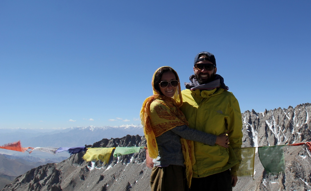 Looking out over the Khardung Pass, at about 18,800 feet