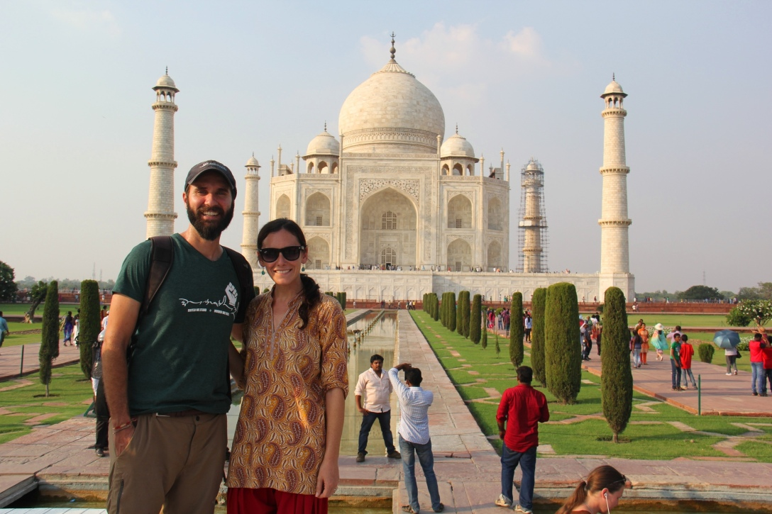 Ben and I at the Taj