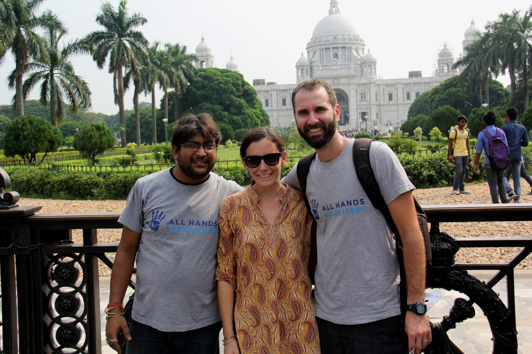Pankaj, Ben and I in front of the Victoria Memorial in Calcutta