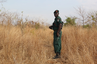 guide at Majete National Park in Malawi