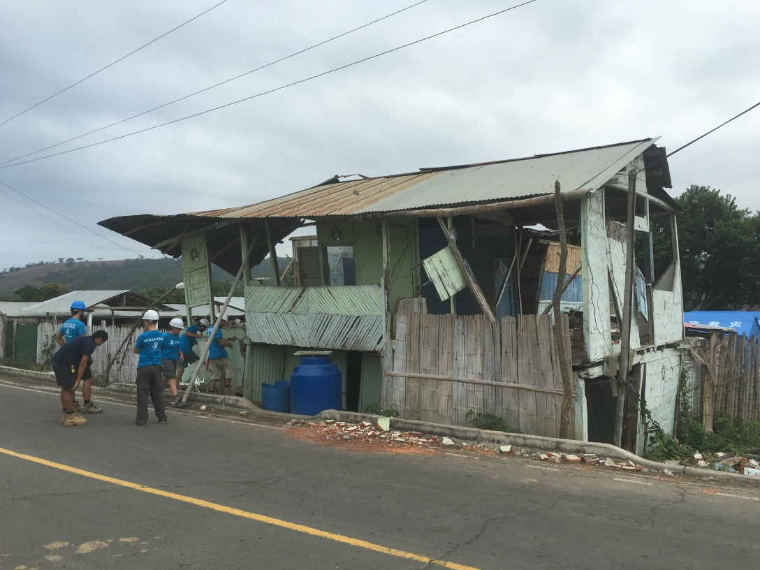 Home in San Miguel in need of demolition after the earthquake